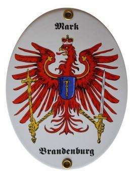 Emailleschild Mark Brandenburg