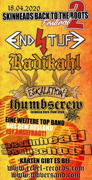 Eintrittskarte - Skinheads Back To The Roots - Festival Teil 2